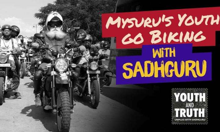 Mysuru's Youth Go Biking With Sadhguru