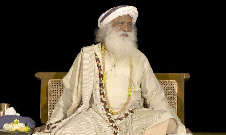 Sadhguru speaking at a Darshan, neatr Chandrakund, Isha Yoga Center | What to Do When You're Facing Friction in Life?