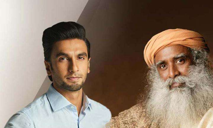 Ranveer Singh in conversation with Sadhguru on July 21, 2018