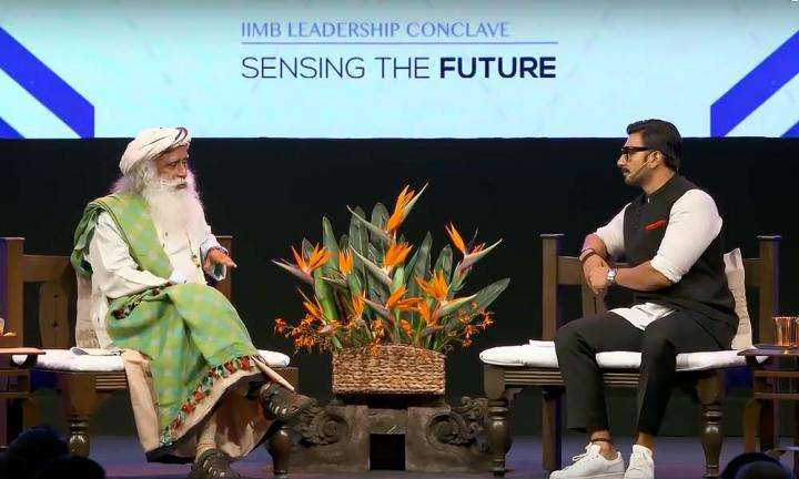 Ranveer Singh in Conversation with Sadhguru at IIMBue, Bengaluru | Why Do Lynchings Happen in India?