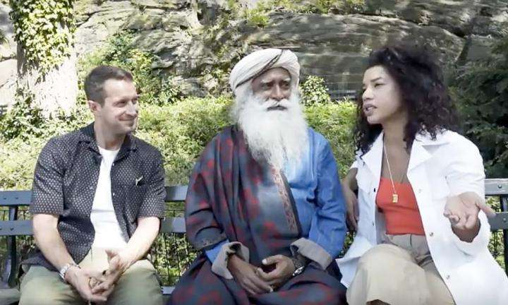 Sadhguru in conversation with Hannah of HBFIT Tv and Brendan Bronfman at Central Park, New York | Lessons in Life and Love with Sadhguru | Hannah Bronfman with HBFIT TV