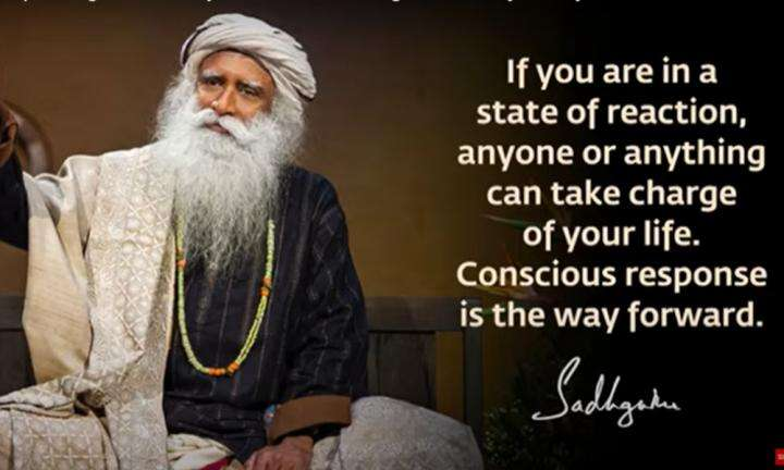 Sadhguru Wisdom Video | Daily Wisdom | Being Human Means Responding Consciously Instead of Reacting Instinctively.