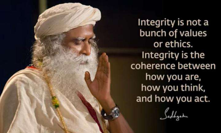 Sadhguru Wisdom Video | Daily Wisdom | The Simplest Way to Integrity Is to Make Your Thought Process Inclusive.