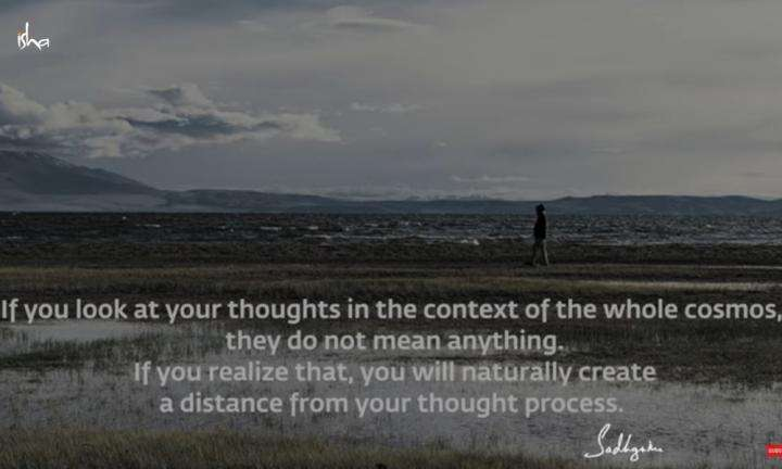 Sadhguru Wisdom Video | Daily Wisdom | If You Pay Attention To Existence, Your Thought Will Sink To The Background.