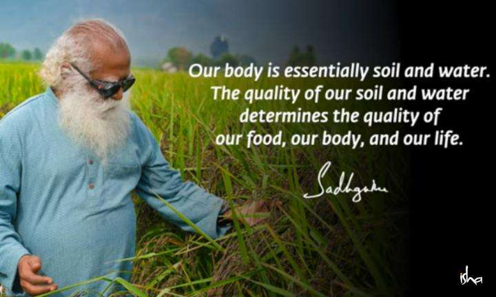 Sadhguru Wisdom Video |Daily Wisdom | Soil and Water Are Our Very Body.