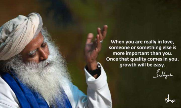 Sadhguru Wisdom Video | Daily Wisdom | Transcendence Is Very Easy When You Are In a State of Love or Devotion.