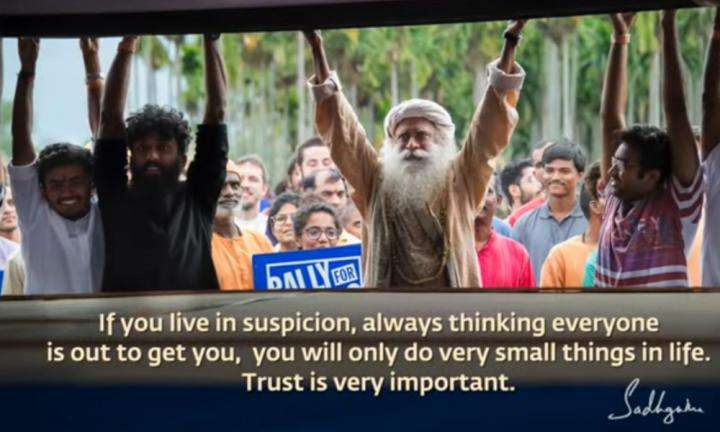Sadhguru Wisdom Video   Daily Wisdom   To Do Something Significant, You Must Earn the Trust of Millions of People