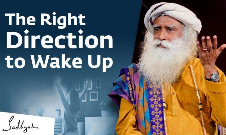 Sadhguru Wisdom Video | The Right Direction to Wake Up