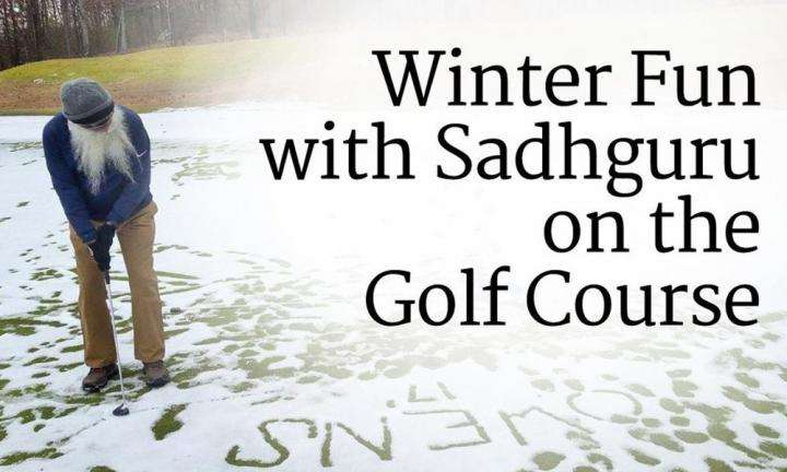 Winter Fun with Sadhguru on the Golf Course