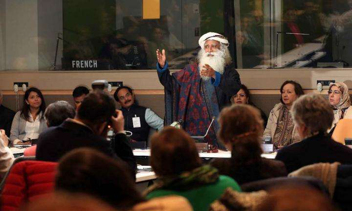 Sadhguru at UN – Women, Water and Sanitation