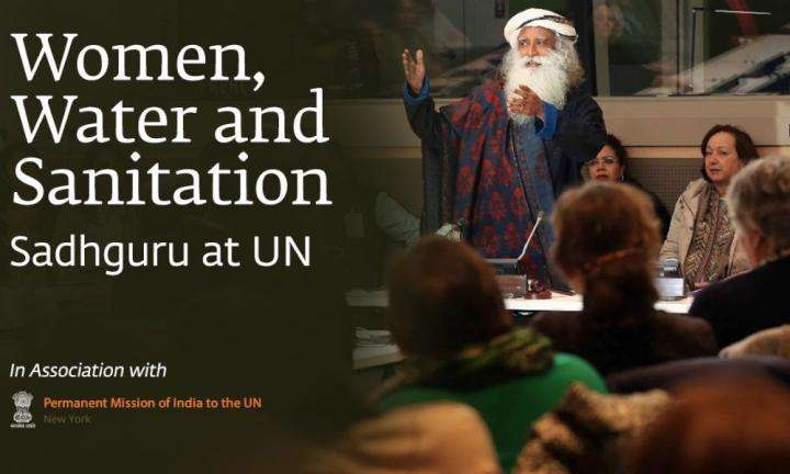 sadhguru wisdom audio | sadhguru on women water and sanitation